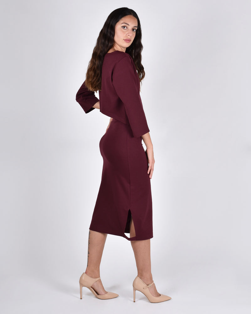Albatross in Burgundy 3-in-1 skirt+dress+tank