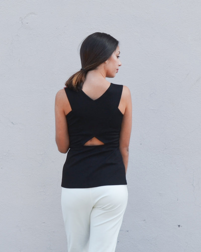 Bird of Paradise Top in Black 2-in-1 - PARIDAEZ