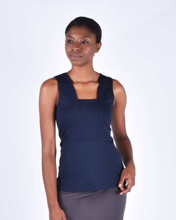Bird of Paradise Top in Navy 2-in-1 - PARIDAEZ