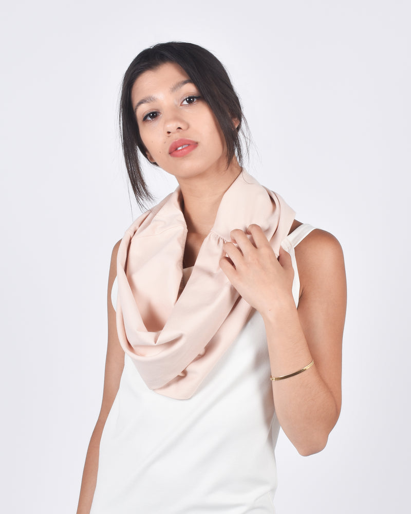 Hummingbird in Light Blush 5-in-1 Skirt + Shawl + Scarf + Hood + Top