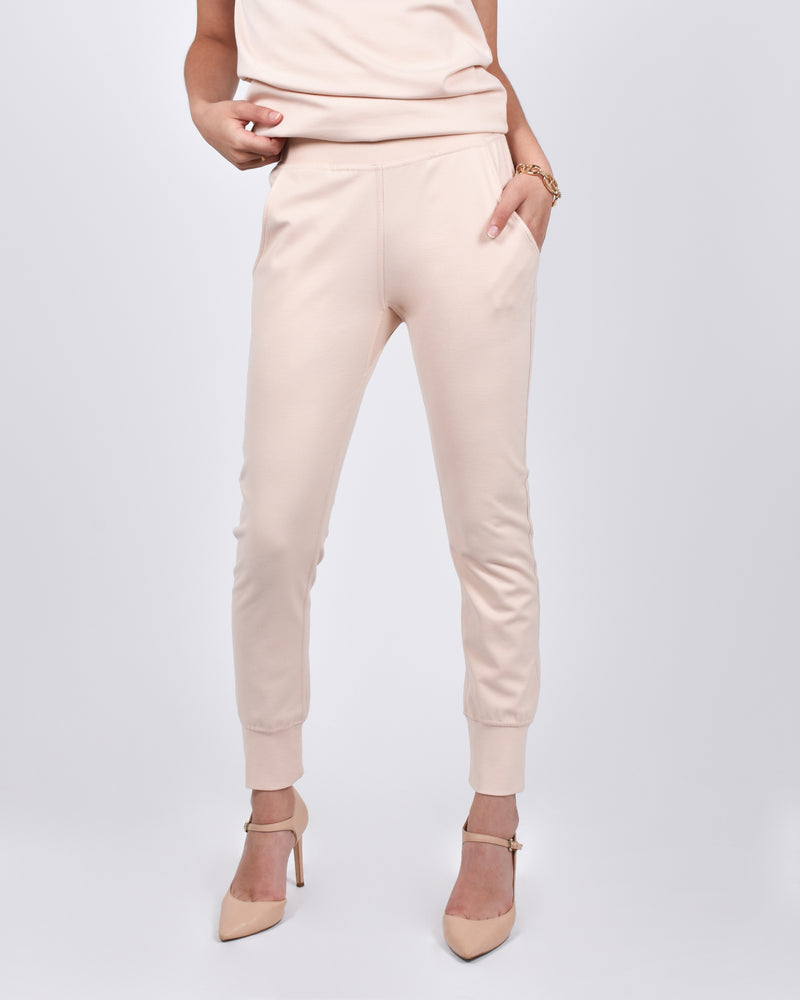 Mocking J Joggers in Light Blush