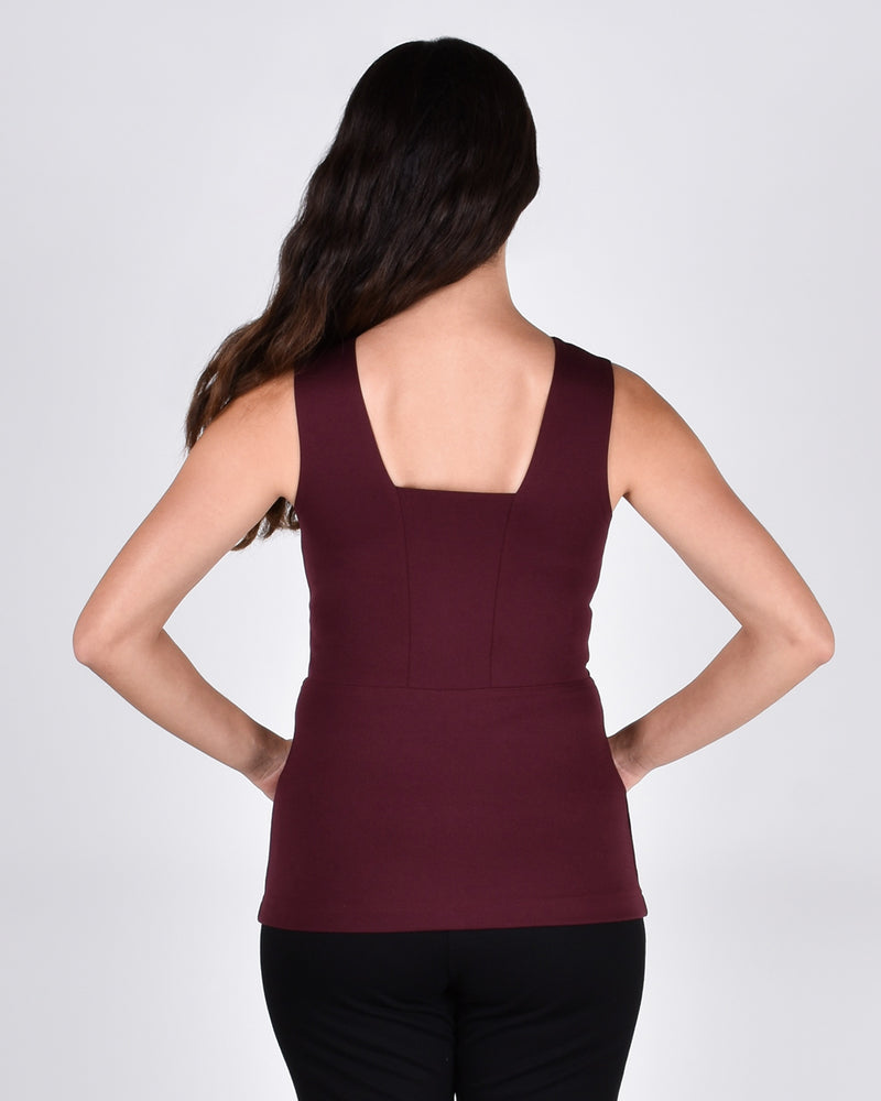 Bird of Paradise Top in Burgundy 2-in-1 - PARIDAEZ