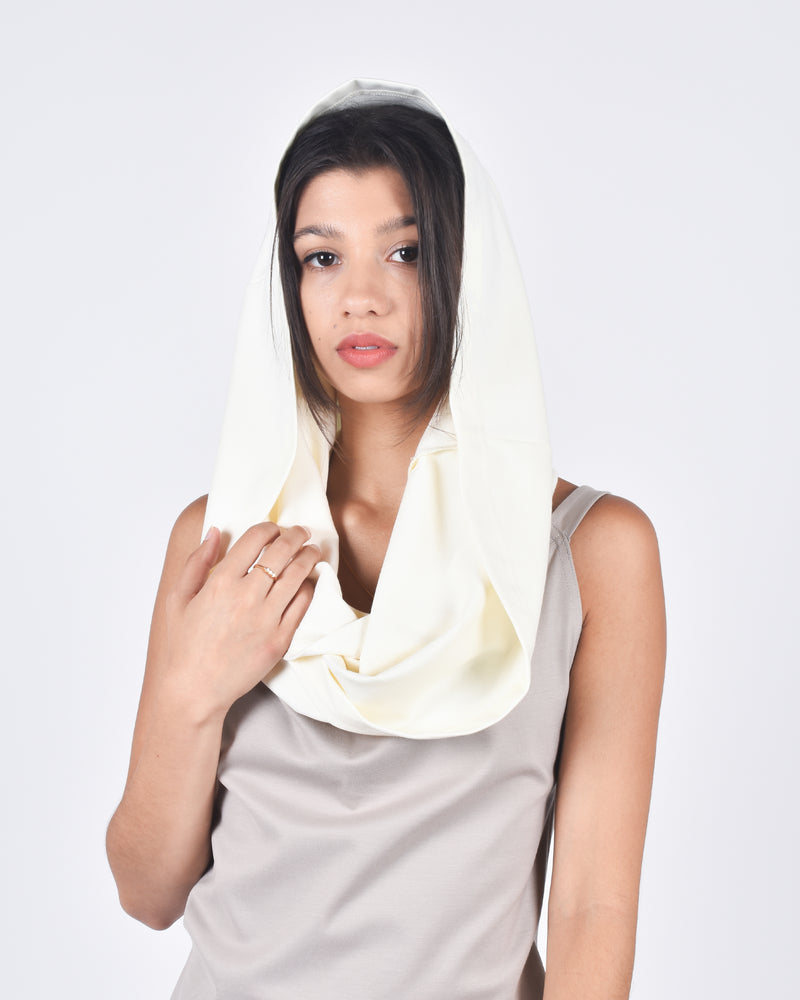 Hummingbird in Cream 5-in-1 Skirt + Shawl + Scarf + Hood + Top