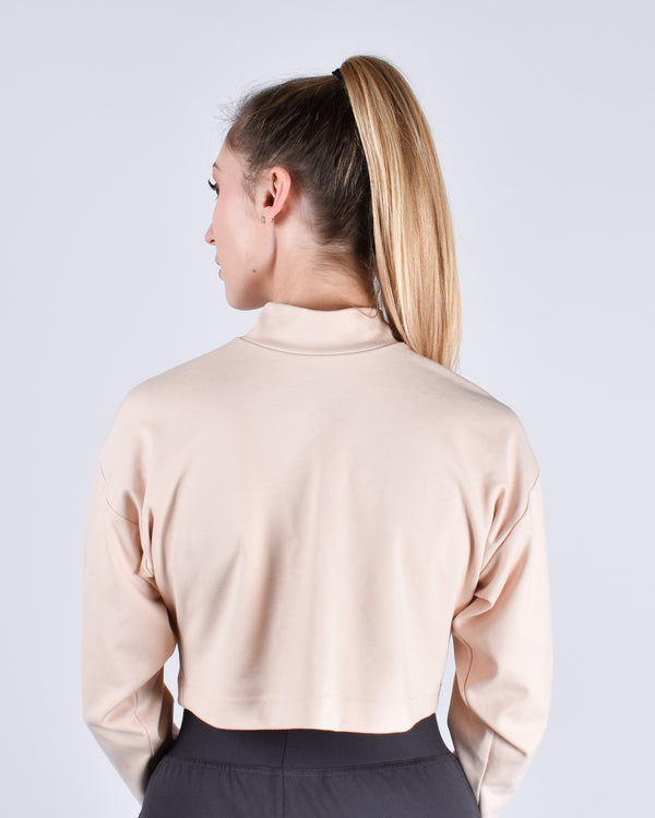 Egret Long Sleeve Crop 2-in-1 - PARIDAEZ