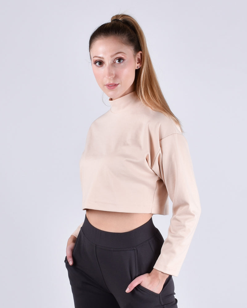 Egret Long Sleeve Crop 2-in-1