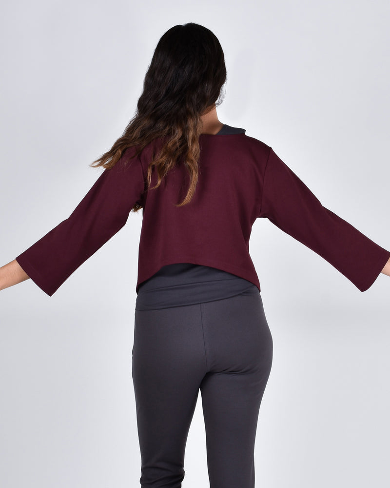 Ibis Top 2-in-1 in Burgundy - PARIDAEZ