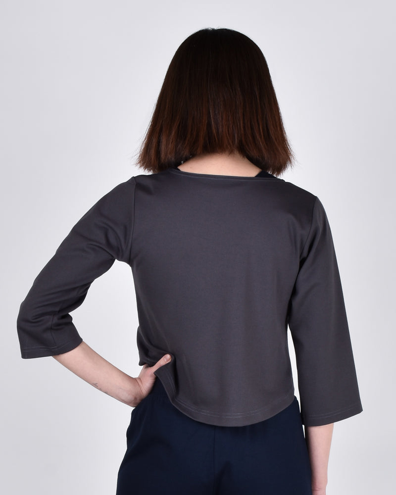 Ibis Top 2-in-1 in Pewter - PARIDAEZ