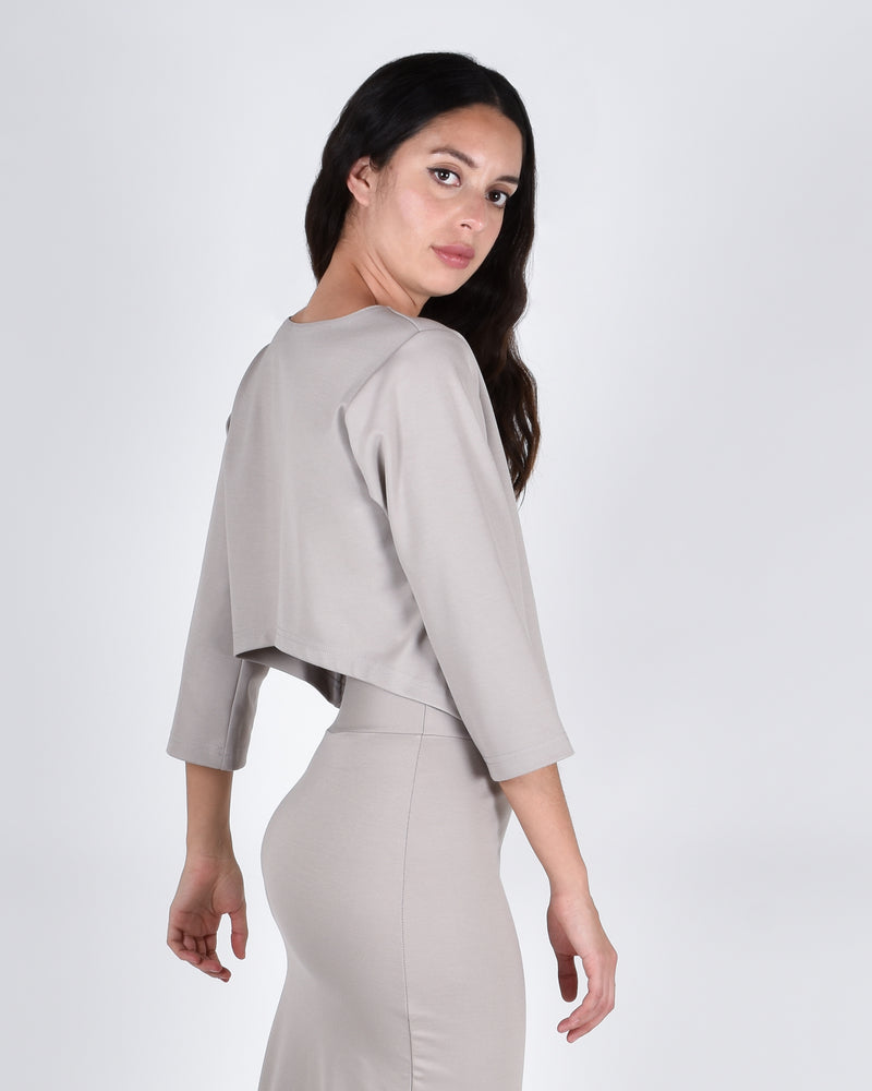 Ibis Top 2-in-1 in Taupe - PARIDAEZ