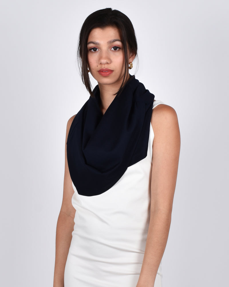 Hummingbird in Navy 5-in-1 Skirt + Shawl + Scarf + Hood + Top