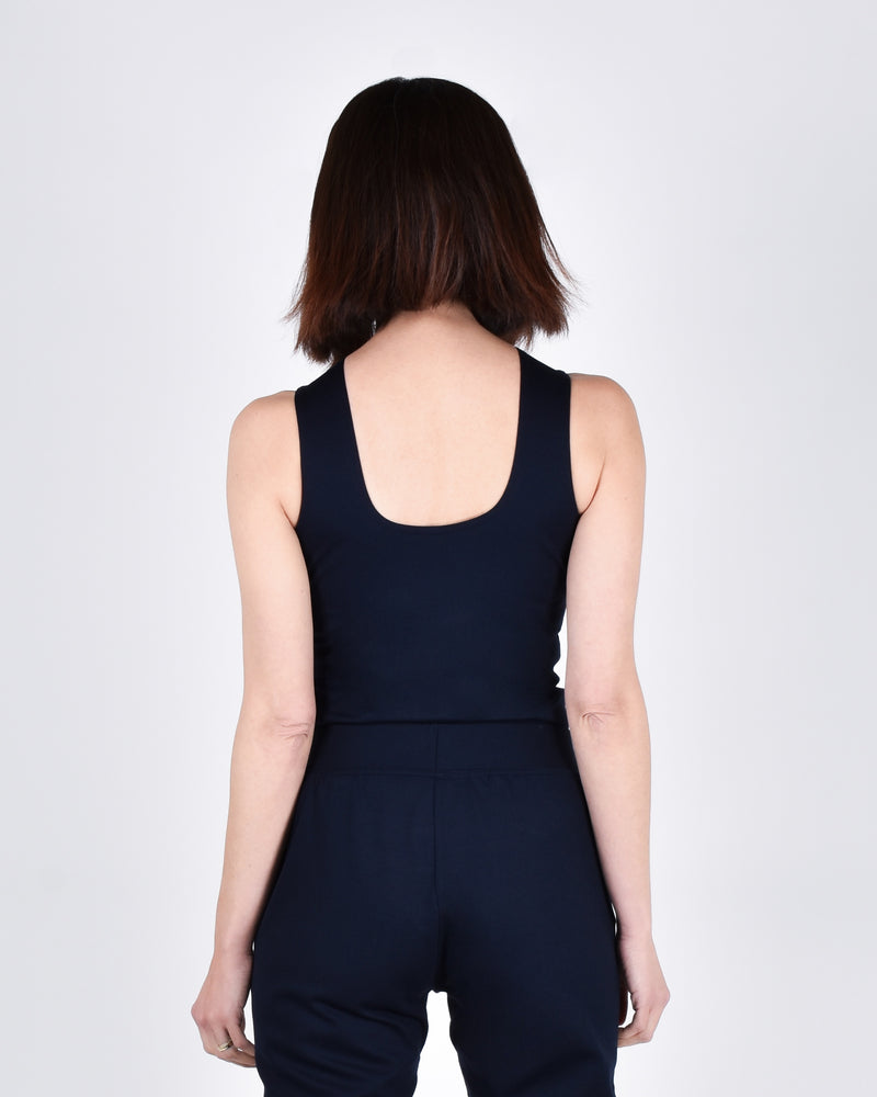 Sparrow Top in Navy 2-in-1