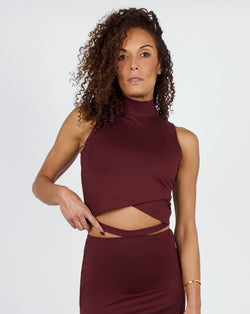 Plover Top 2-in-1 in Burgundy