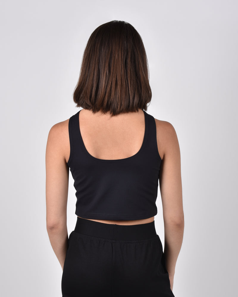 Sparrow Crop in Black 2-in-1