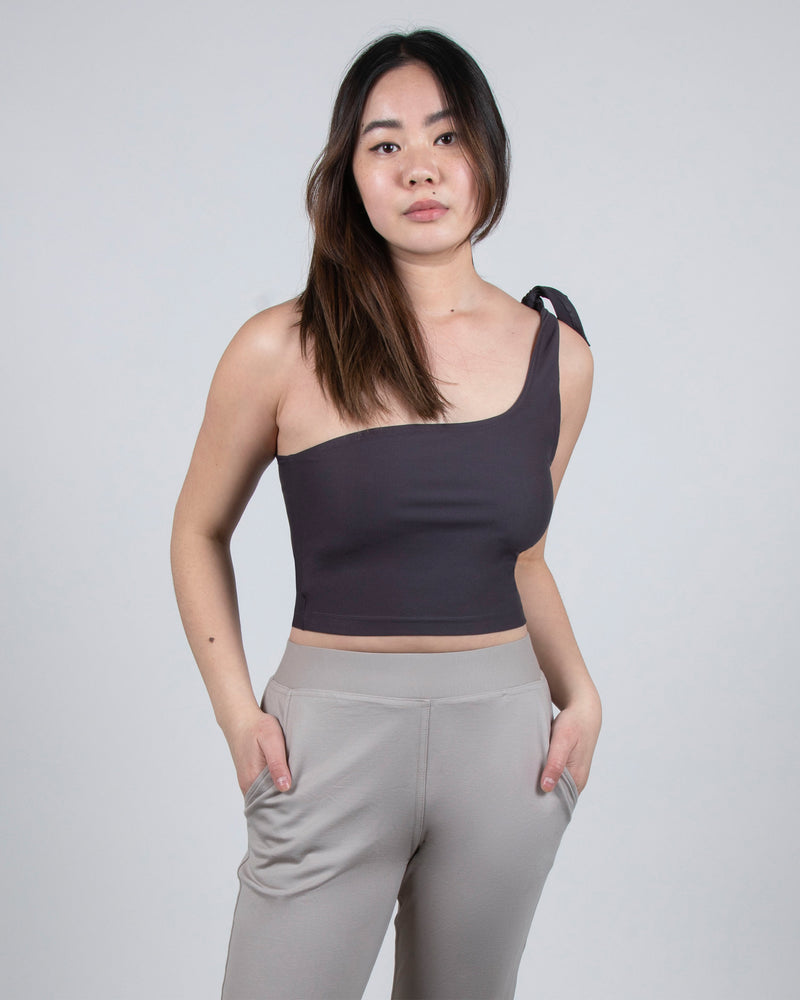 Starling Crop 2-in-1 in Plum Gray