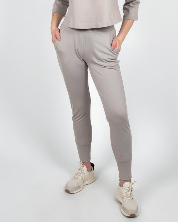 Mocking J Joggers in Taupe