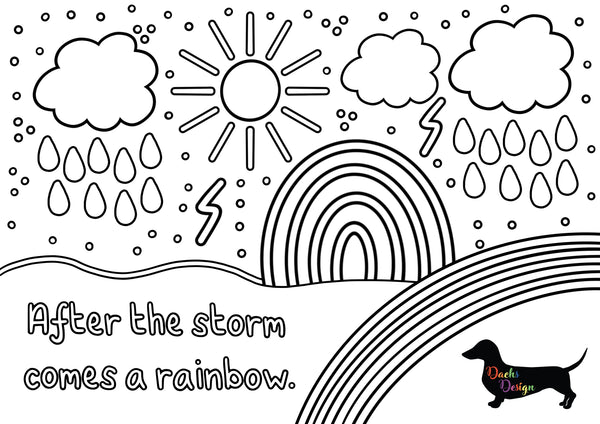 DachsDesign After the Storm Colouring Sheet