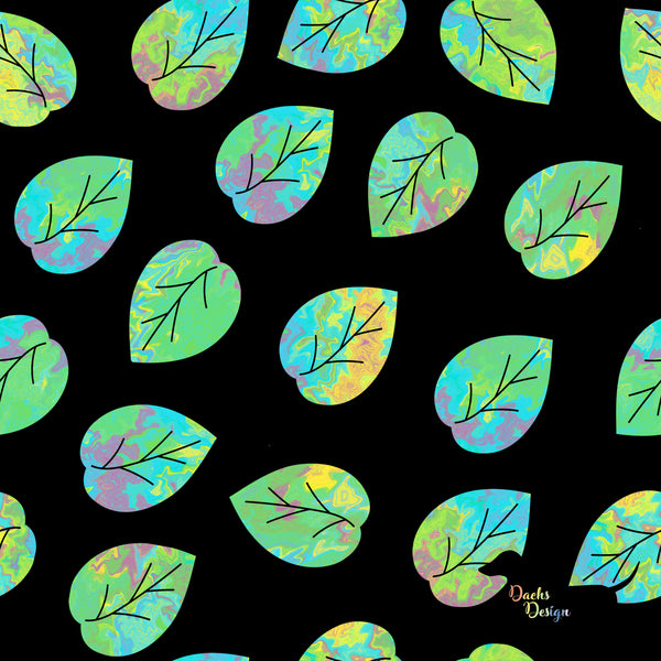 DachsDesign Painted Leaves Seamless Pattern