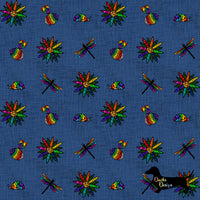 DachsDesign Stained Glass Rainbow Beasties Seamless Pattern