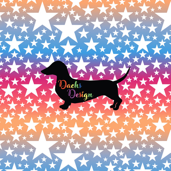 DachsDesign NON-EXCLUSIVE White Stars on Sunrise Seamless Pattern