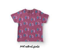 Seamless Pattern Fabric T-Shirt Mock Up