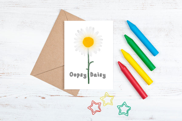 DachsDesign Watercolour Daisy A6 Card and Envelope
