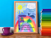 DachsDesign Personalised Alphabet Rainbow A4 Print