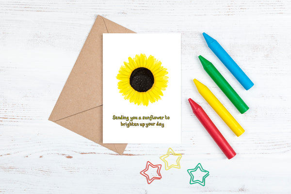 DachsDesign Watercolour Sunflower A6 Card and Envelope