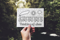 Pack of 8 Colouring Sheet Postcards