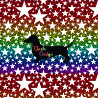 DachsDesign NON-EXCLUSIVE Rainbow and Glitter Stars Seamless Patterns