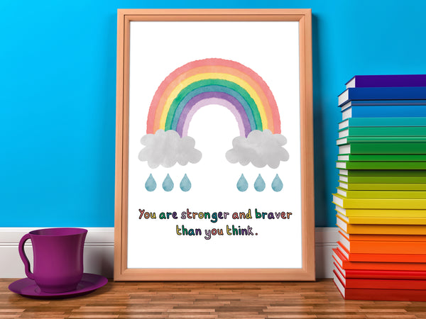 DachsDesign Watercolour You Are Stronger Than You Think Print