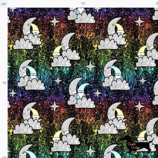 DachsDesign FULL EXCLUSIVE Moons and Clouds Gnomes Pattern