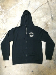 CALIFORNIA Premium Zip Hooded Sweatshirt Black