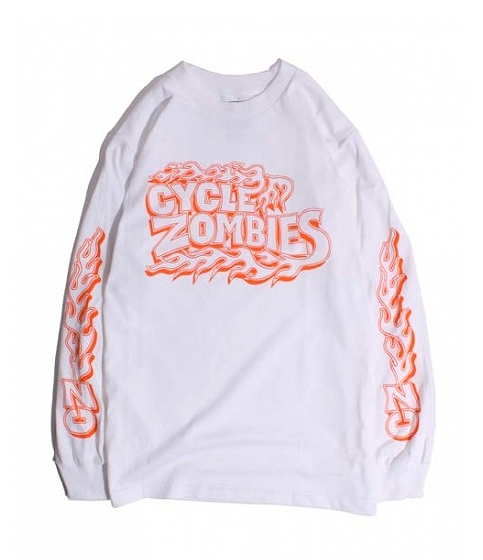 Backfire Long Sleeve flamed shirt