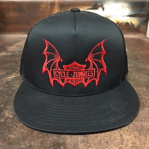 e6c4b08e85afe Cycle Zombies   30.00 · Ride Free Premium mesh Trucker Hat