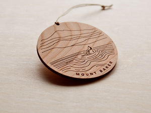 Mt Baker Round Christmas Ornament