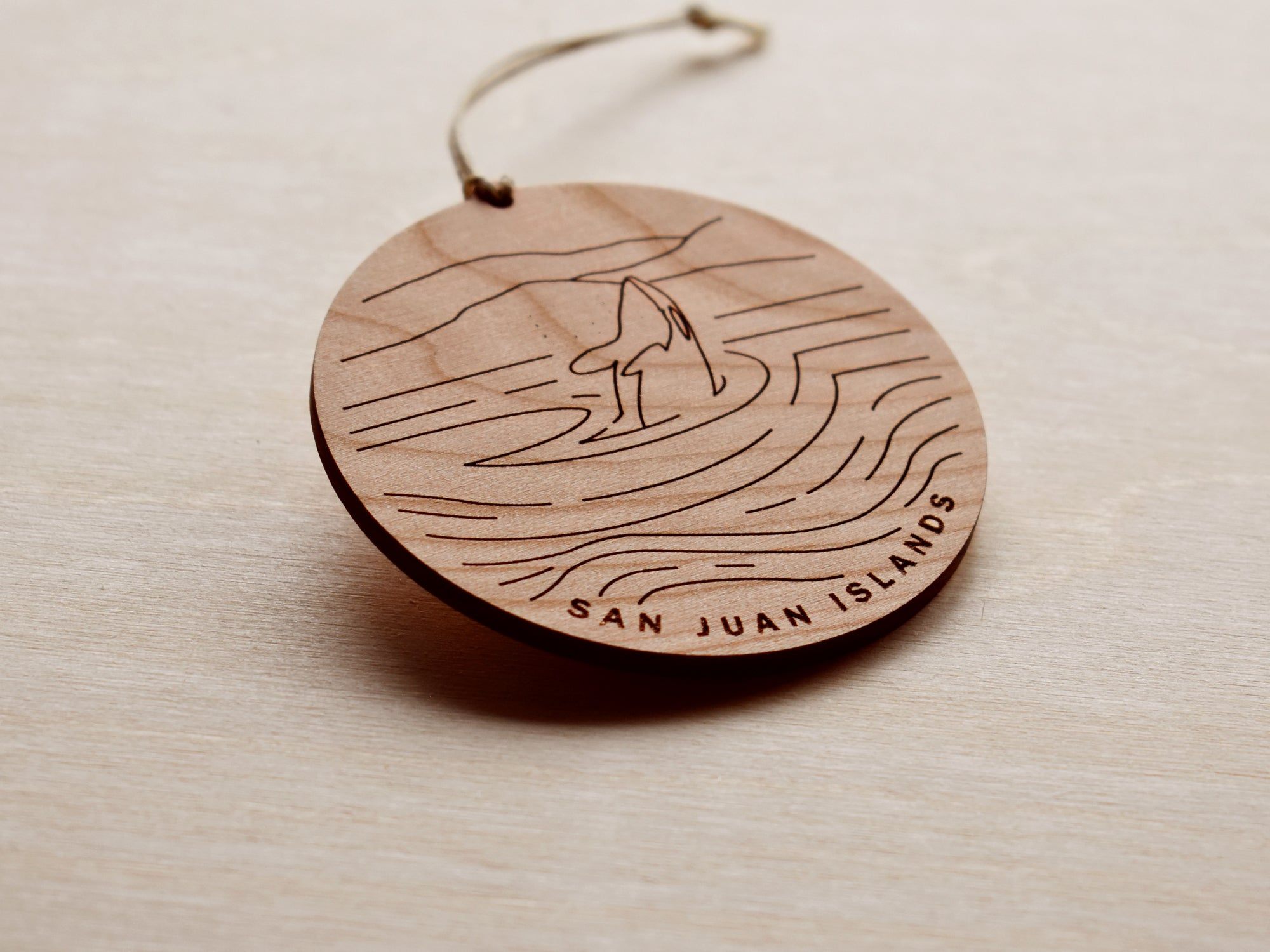 San Juan Islands Round Christmas Ornament