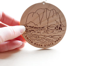 Smith Rock Round Christmas Ornament
