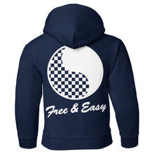 Load image into Gallery viewer, Checkered Yin Yang Kids Hoodie