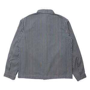 Indigo Striped Chore Coat
