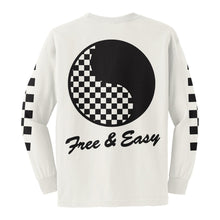 Load image into Gallery viewer, Checkered Yin Yang Kids LS Tee