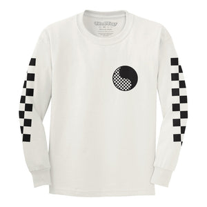 Checkered Yin Yang Kids LS Tee