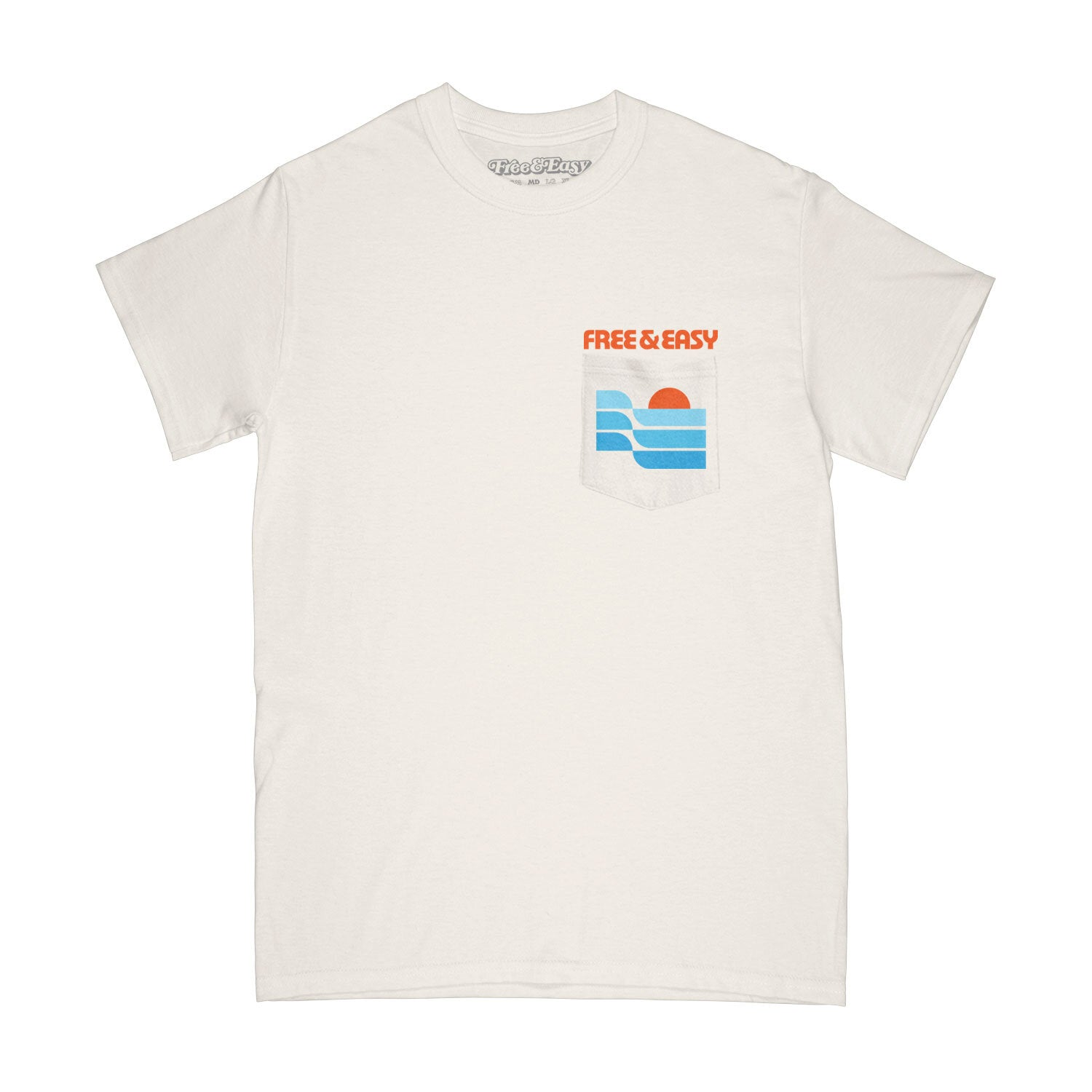 Sunset Waves SS Pocket Tee