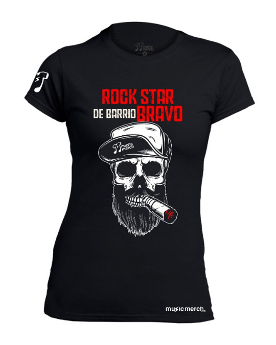 PLAYERA MMMX ROCK STAR DE BARRIO NEGRA DAMA [FAVORITAS]