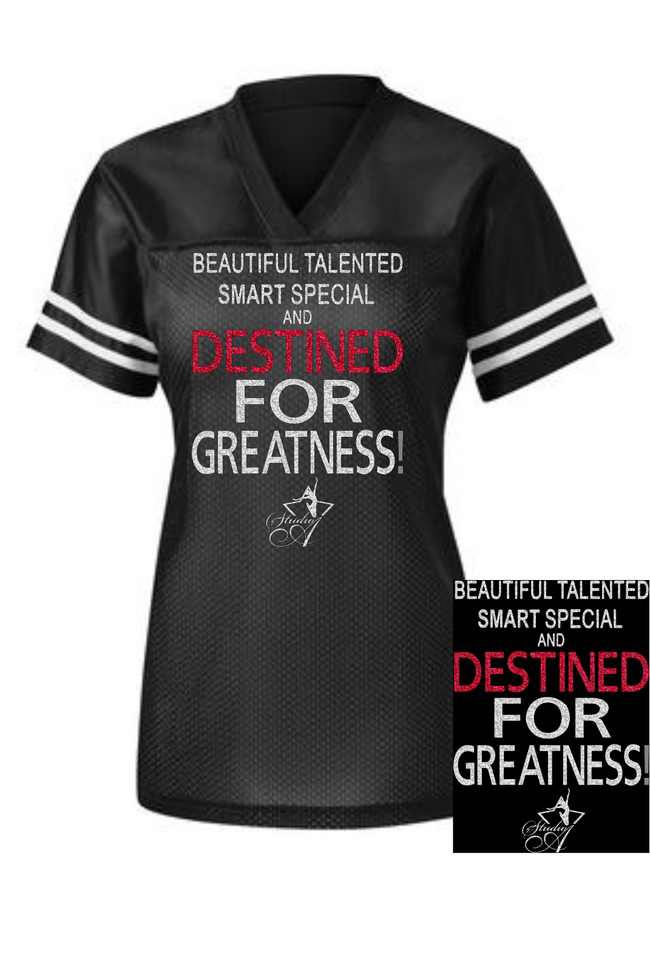 "Studio A Bling ""Destined for Greatness"" Jersey"