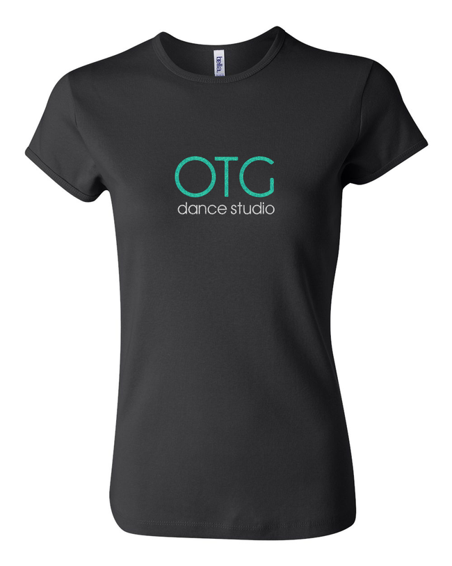 OTG-GLITTER FITTED TEE