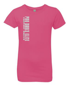 PDE GLITTER GIRLS FITTED  CREW NECK TEE (AVAILABLE IN 3 COLORS)