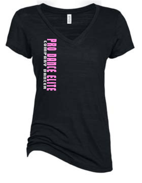PDE STRONG GLITTER FITTED V NECK TEE (AVAILABLE IN 3 COLORS)