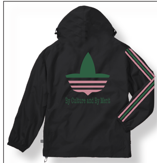 """RUN-PINK-N-GREEN"" PULLOVER WINDBREAKER"