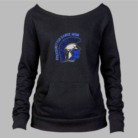 SPARTANETTES DANCE MOM GLITTER SLOUCHY SWEATSHIRT
