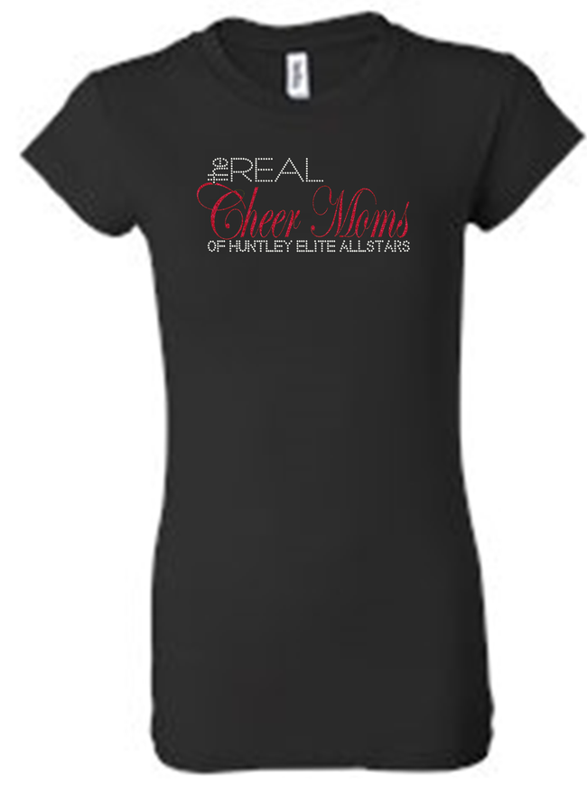 REAL CHEER MOMS RHINESTONE T-SHIRTS