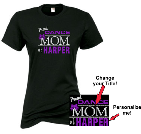 """Proud Dance"" Glitter Fan Tee!  Personalize me!"